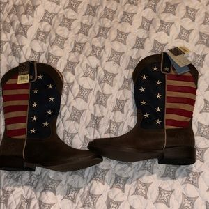 Roper squared toe patriotic cowboy boots. Size 1